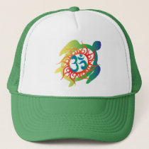 f14ed784c99 OM Yoga Chakra Green or customize it Embroidery Embroidered Baseball Hat ·    23.05 · Om-Tatto-Vibrant-Turtle Trucker Hat