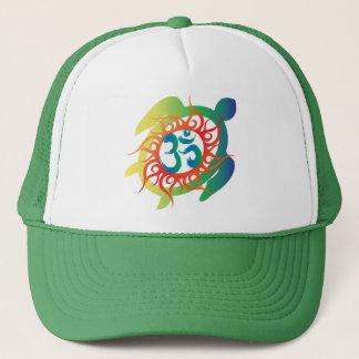 Om-Tatto-Vibrant-Turtle Trucker Hat