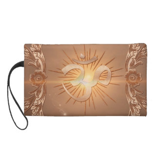 Om the sign wristlet purse