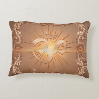 Om the sign accent pillow