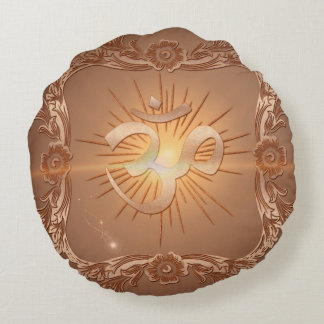 Om the sign round pillow
