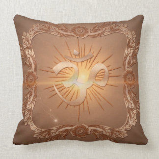 Om the sign throw pillows