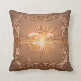Om the sign pillow