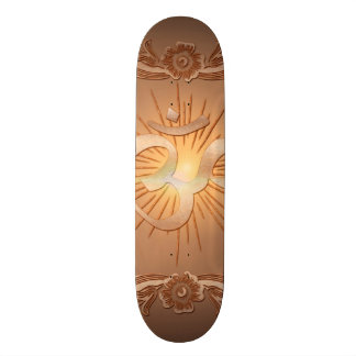 Om the sign skate board deck