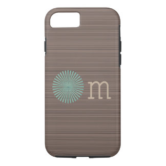 Om turquoise wood grain brown stripes iPhone 8/7 case