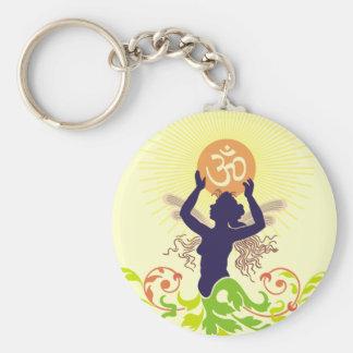 Om Vandana : Worship Basic Round Button Keychain