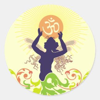 Om Vandana : Worship Classic Round Sticker
