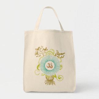 OM (verdes) Bolsa Tela Para La Compra