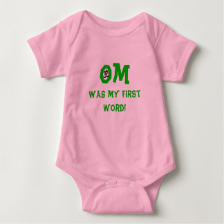 Om Was My First Word - Baby Yoga Clothes Baby Bodysuit