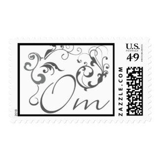 Om with Scrolls and Swirls Postage