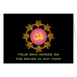 Om with Swirls and Colors! Greeting Card