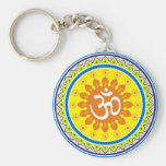 Om with Traditional Indian style Mandana Keychains