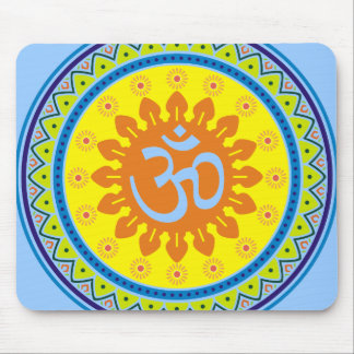 Om with Traditional Indian style Mandana Mouse Pad