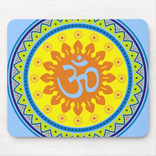 Traditional Indian Style Interior Design: Om With Traditional Indian Style Mandana Mouse Pad