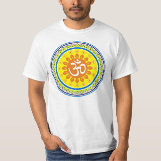 Om with Traditional Indian style Mandana T-Shirt