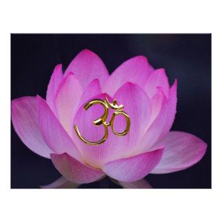 OM y la flor de loto Membretes Personalizados