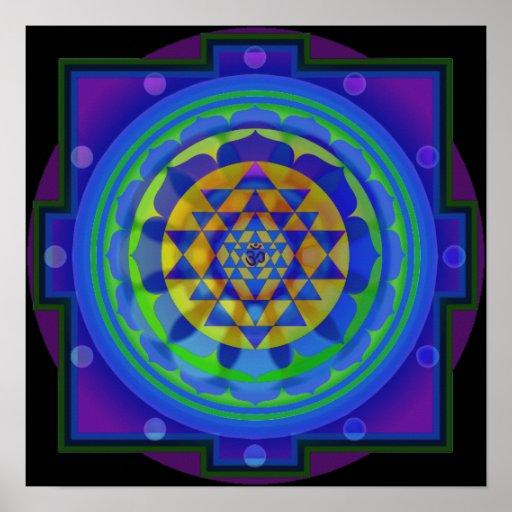 OM Yantra Mandala Poster