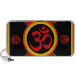 OM Yantra Red/Black/Gold iPhone Speakers