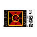 OM Yantra Red/Black/Gold Stamps