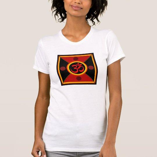 OM Yantra Red/Black/Gold T-Shirt