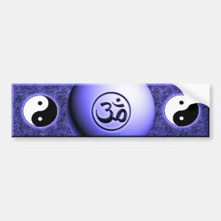 Om Yin Yang - Blue Car Bumper Sticker