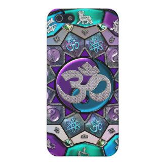 OM Yin-Yang Zodiac Mandala Background Case