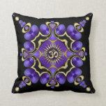 OM Yoga Arts Golden Purple Cushion Throw Pillow