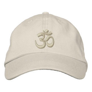 OM Yoga Chakra Beige Beige or customize Embroidery Embroidered Hat