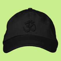 OM Yoga Chakra Black Black or customize Embroidery Embroidered Baseball Cap