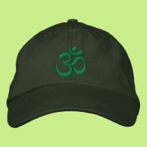 OM Yoga Chakra Green or customize it Embroidery Embroidered Baseball Hat