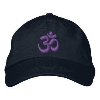 OM Yoga Chakra Purple or customize it Embroidery Embroidered Baseball Hat