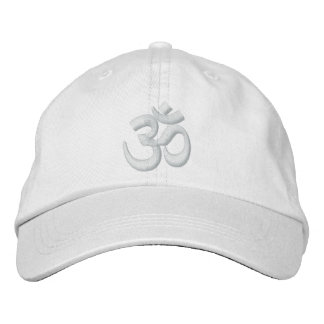 OM Yoga Chakra White or customize it Embroidery Embroidered Baseball Hat