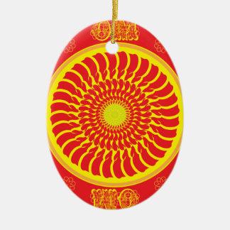 OM Yoga design Ceramic Ornament