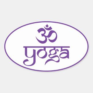 Om Yoga Oval Sticker