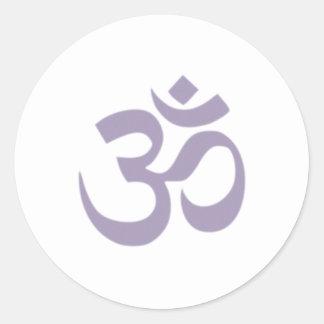 OM - Yoga Pegatina Redonda