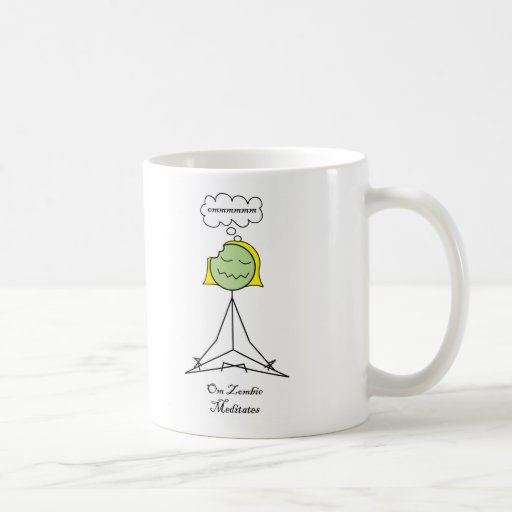 Om Zombie Meditates Mug
