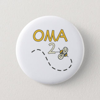 Oma 2 Bee Pinback Button