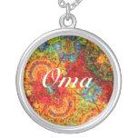 Oma abstracto colorido colgante personalizado