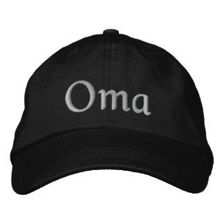 Oma bordó el casquillo gorra de beisbol