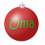Oma Christmas Ornament Cut Out