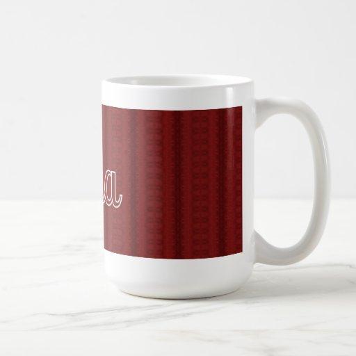 Oma de color rojo oscuro taza clásica