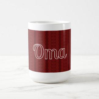 Oma de color rojo oscuro tazas de café