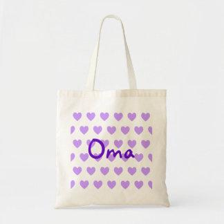 Oma en púrpura bolsa tela barata