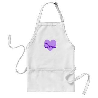 Oma en púrpura delantal