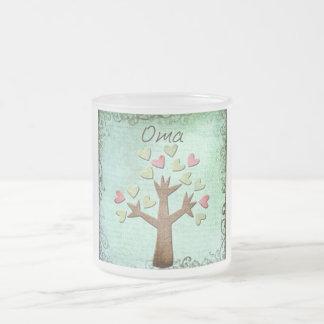 oma heart tree coffee mug
