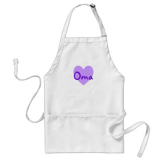 Oma in Purple Adult Apron