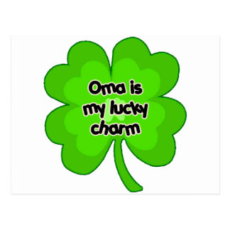 Oma is My Lucky Charm Postcard