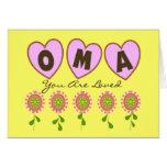 """""""Oma le aman""""---Regalos del día de madre Tarjeton"""