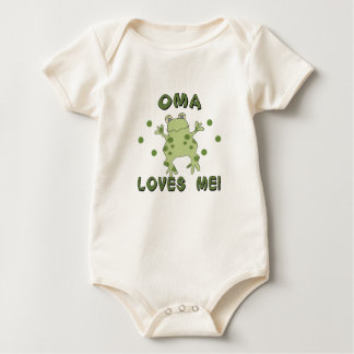 Oma Loves Me Frog Baby Bodysuits