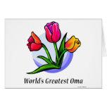 Oma más grande del mundo tarjeta